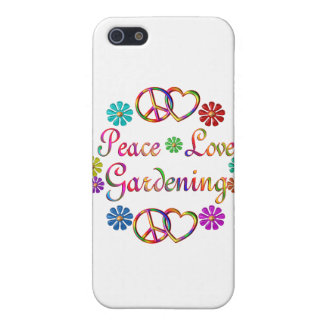 PEACE LOVE GARDENING CASE FOR iPhone 5