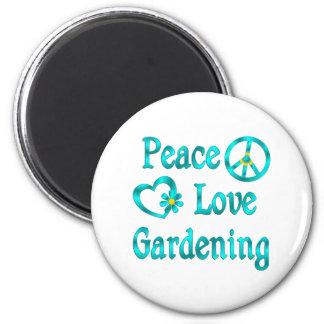 Peace Love Gardening Refrigerator Magnet