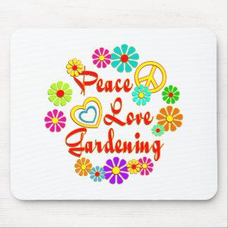 PEACE LOVE Gardening Mousepad