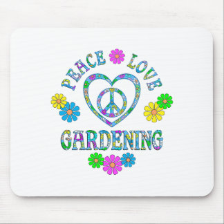 Peace Love Gardening Mouse Pad