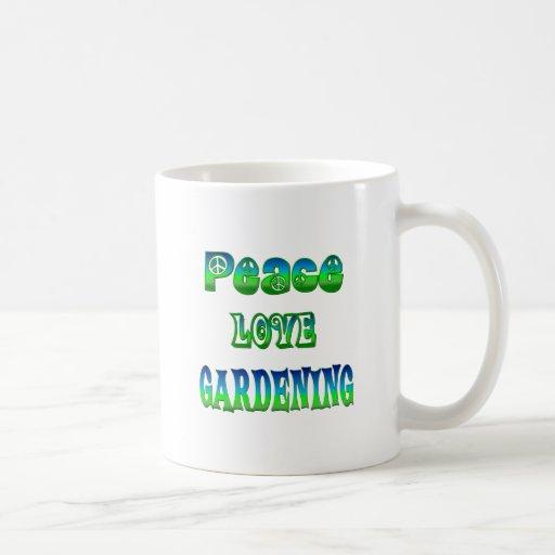 Peace Love Gardening Mug