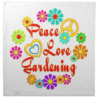 PEACE LOVE Gardening Printed Napkin