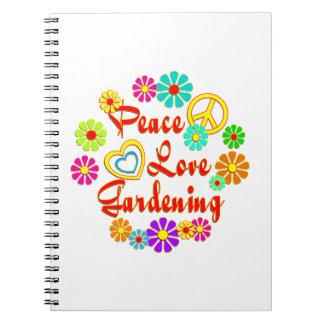 PEACE LOVE Gardening Spiral Notebook