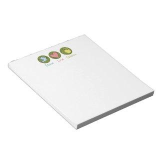 Peace Love Gardening Memo Notepads