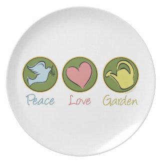 Peace Love Gardening Dinner Plate