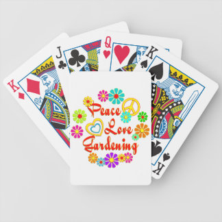 PEACE LOVE Gardening Bicycle Card Deck