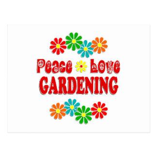 Peace Love Gardening Postcard