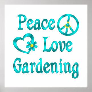 Peace Love Gardening Print