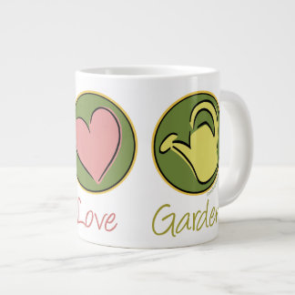 Peace Love Gardening Extra Large Mug