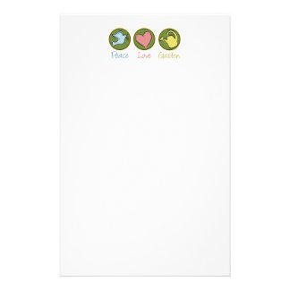 Peace Love Gardening Stationery Paper