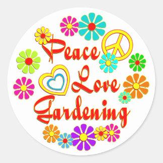 PEACE LOVE Gardening Stickers