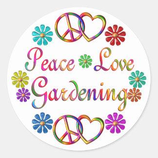 PEACE LOVE GARDENING STICKER