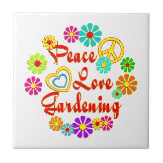PEACE LOVE Gardening Tile