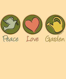 Peace, Love, Gardening Hooded Sweatshirts