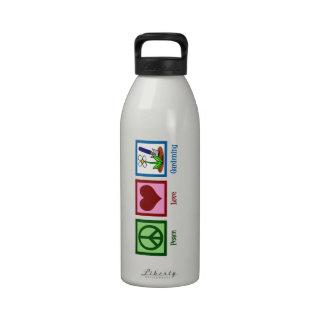 Peace Love Gardening Drinking Bottle