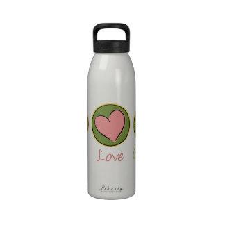 Peace Love Gardening Water Bottles