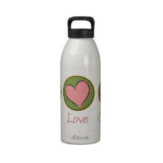 Peace Love Gardening Drinking Bottles