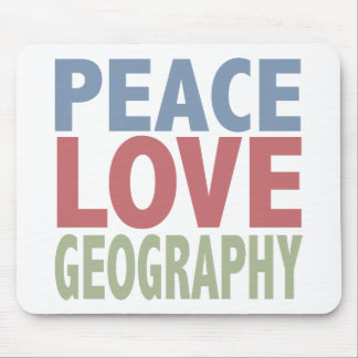 Peace Love Geography Mouse Pad
