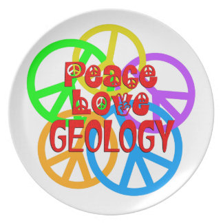 Peace Love Geology Plate