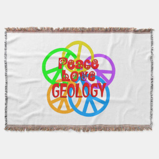 Peace Love Geology Throw Blanket
