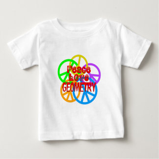 Peace Love Geometry Baby T-Shirt