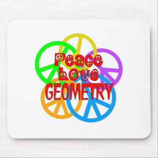Peace Love Geometry Mouse Pad