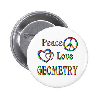 Peace Love GEOMETRY Pins