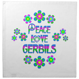 Peace Love Gerbils Printed Napkin
