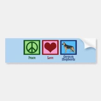 Peace Love German Shepherds Bumper Sticker