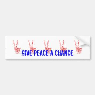 Peace & Love - Give peace a chance Bumper Sticker