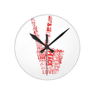Peace & Love - Give peace a chance Wall Clock