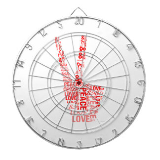 Peace & Love - Give peace a chance Dart Boards