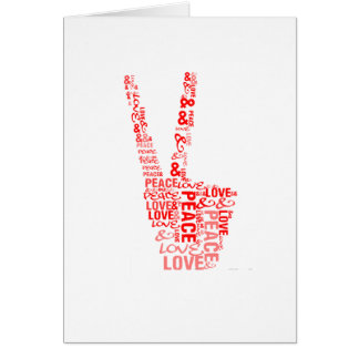 Peace & Love - Give peace a chance Greeting Card