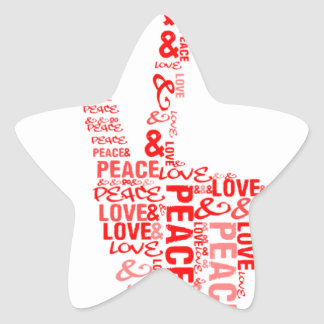 Peace & Love - Give peace a chance Star Sticker