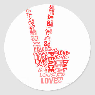 Peace & Love - Give peace a chance Round Sticker