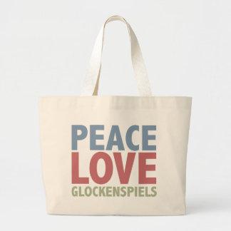 Peace Love Glockenspiels Canvas Bag