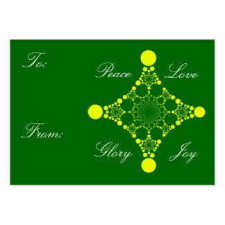Peace Love Glory Joy Gift Tag Business Card Template