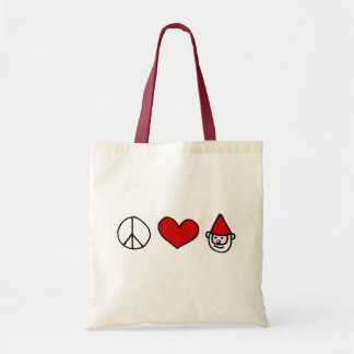 Peace Love Gnome Tote Bag