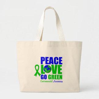 Peace Love Go Green Environment v2 Bags