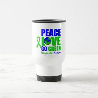 Peace Love Go Green Environment v2 Stainless Steel Travel Mug