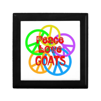 Peace Love Goats Small Square Gift Box
