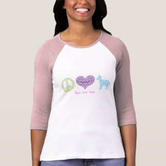 Peace - Love - Goats Women's Raglan Tee