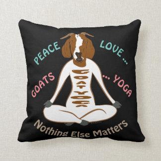 PEACE LOVE GOATS YOGA | GetYerGoat™ Cushion