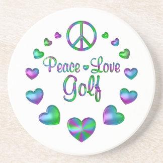 Peace Love Golf Beverage Coaster
