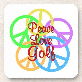 Peace Love Golf Coaster