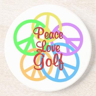 Peace Love Golf Coasters