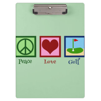 Peace Love Golf (green) Clipboard