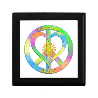Peace Love Golf Small Square Gift Box