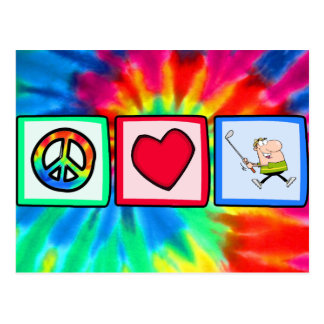 Peace, Love, Golfer Postcard