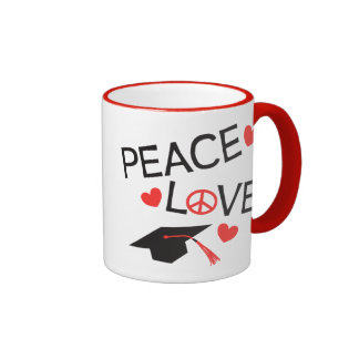 Peace Love Graduation Mug